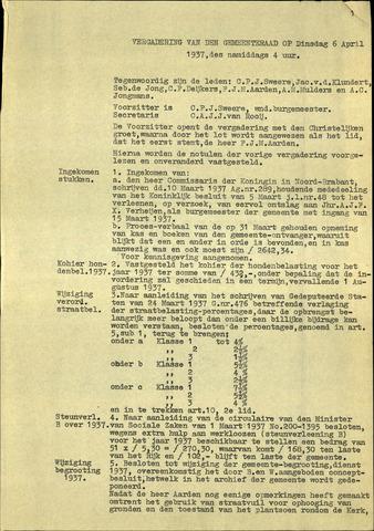 Standdaarbuiten: Notulen gemeenteraad, 1937-1996 1937-01-01