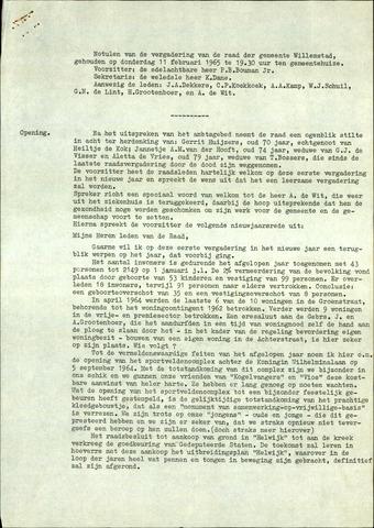 Willemstad: Notulen gemeenteraad, 1927-1995 1965-01-01