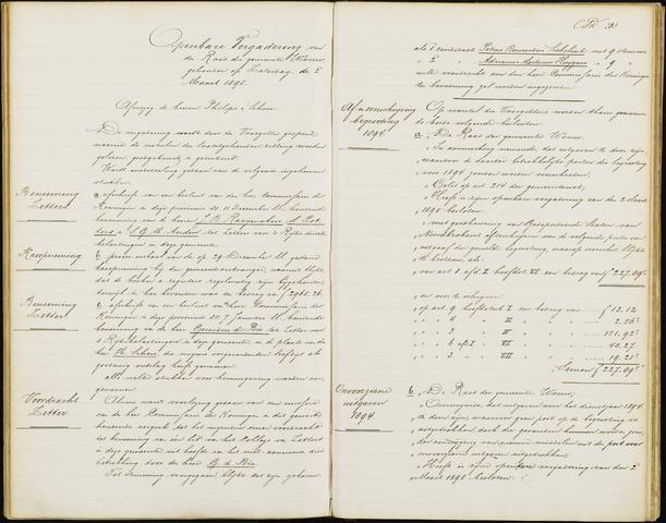 Wouw: Notulen gemeenteraad, 1813-1996 1895