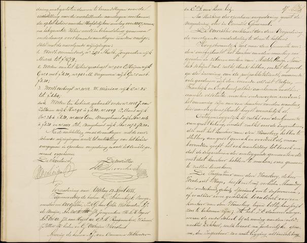 Roosendaal: Notulen gemeenteraad (besloten), 1851-1916 1888