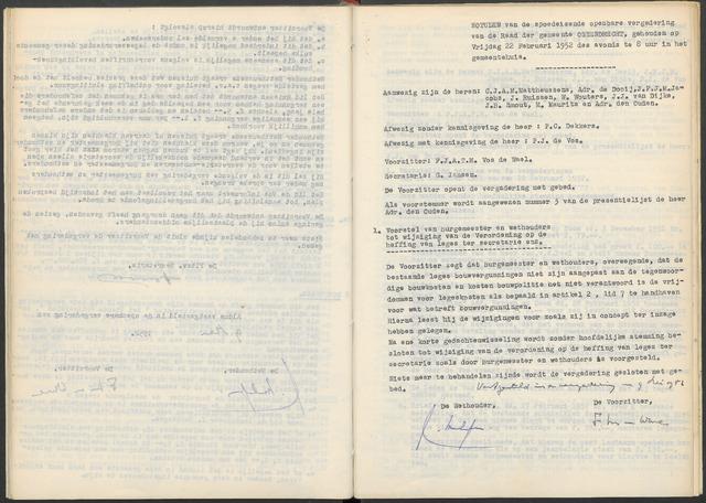 Ossendrecht: Notulen gemeenteraad, 1920-1996 1952