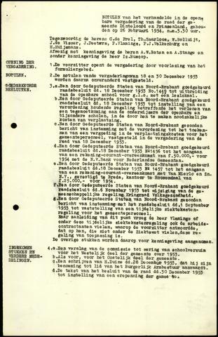 Dinteloord: Notulen gemeenteraad, 1946-1996 1954