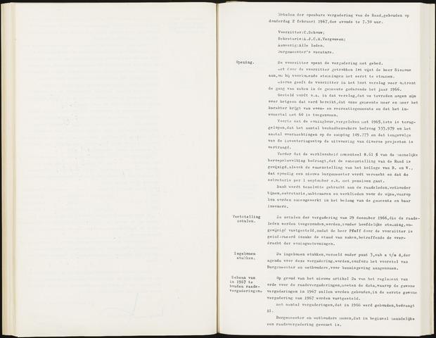 Hoeven: Notulen gemeenteraad, 1928-1996 1967-01-01