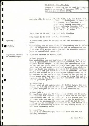 Zundert: Notulen gemeenteraad, 1934-1988 1973-01-01