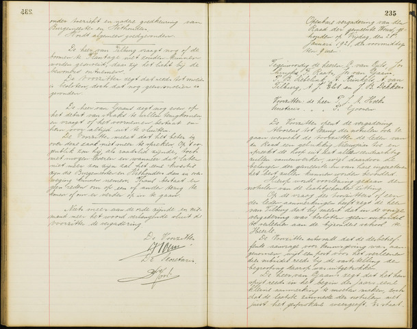 Wouw: Notulen gemeenteraad, 1813-1996 1921