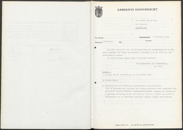 Ossendrecht: Notulen gemeenteraad, 1920-1996 1968