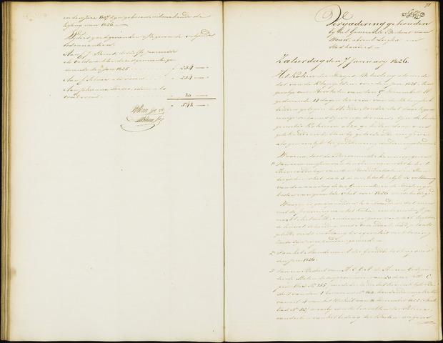Wouw: Notulen gemeenteraad, 1813-1996 1826