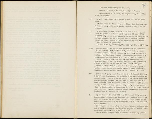 Hoeven: Notulen gemeenteraad, 1928-1996 1933-01-01