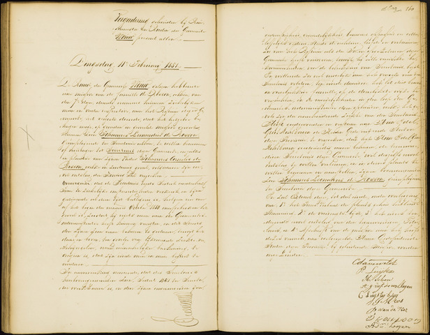 Wouw: Notulen gemeenteraad, 1813-1996 1851