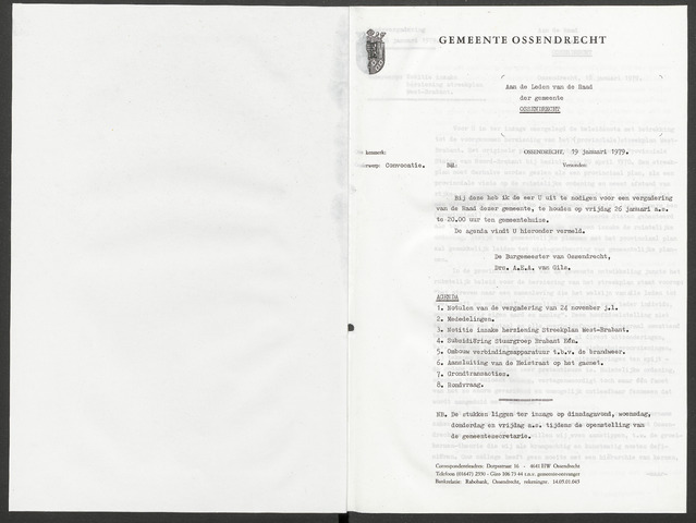 Ossendrecht: Notulen gemeenteraad, 1920-1996 1979