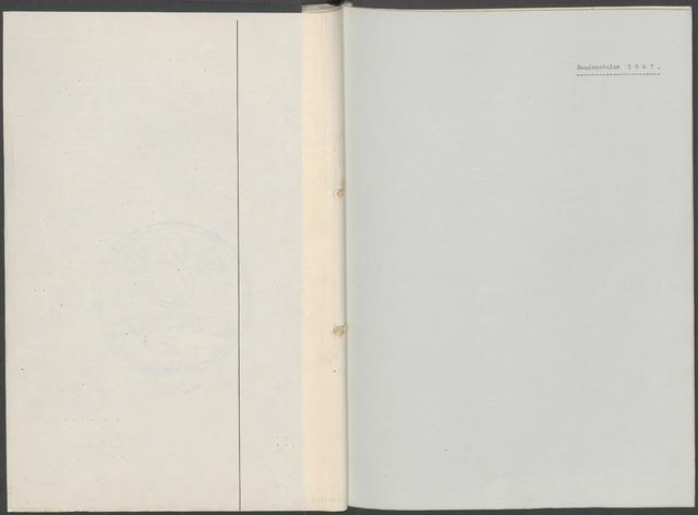 Etten-Leur: Notulen gemeenteraad, 1936-1979 1947-01-01