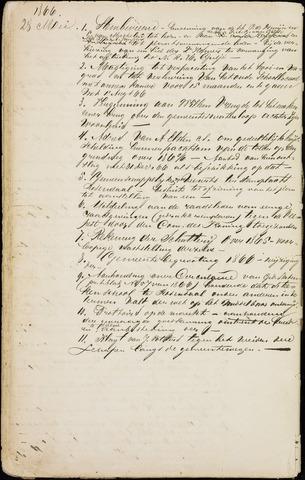 Roosendaal: Inhoudsopgaven notulen, 1849-1903 1866