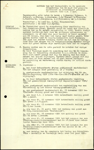 Dinteloord: Notulen gemeenteraad, 1946-1996 1952