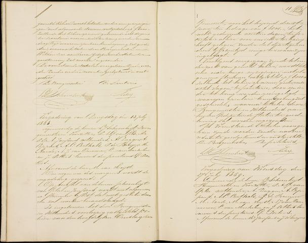 Roosendaal: Notulen gemeenteraad (besloten), 1851-1916 1858