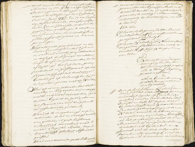 Roosendaal: Registers van resoluties, 1671-1673, 1675, 1677-1795 1747