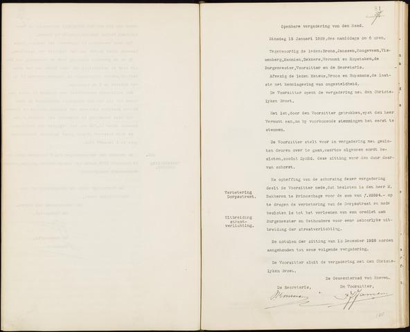 Hoeven: Notulen gemeenteraad, 1928-1996 1929-01-01