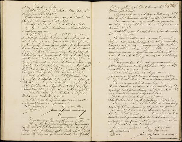 Roosendaal: Notulen gemeenteraad (besloten), 1851-1916 1899