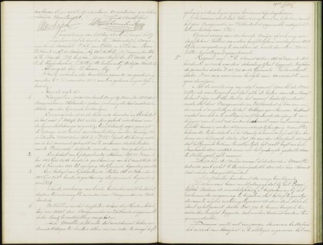 Roosendaal: Notulen gemeenteraad, 1851-1917 1889