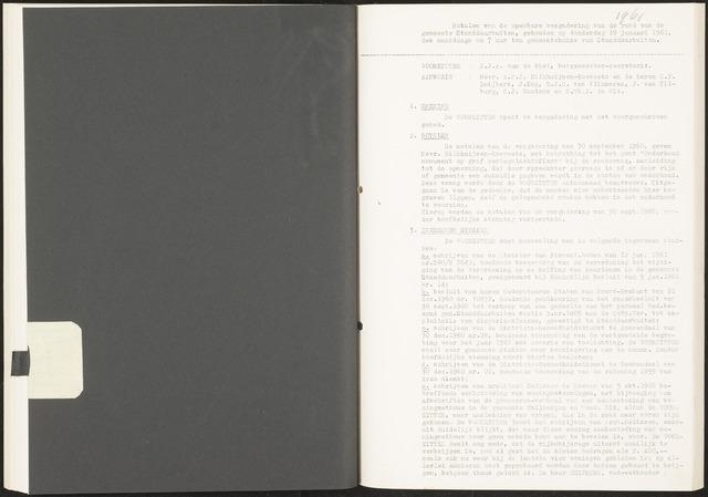 Standdaarbuiten: Notulen gemeenteraad, 1937-1996 1961-01-01