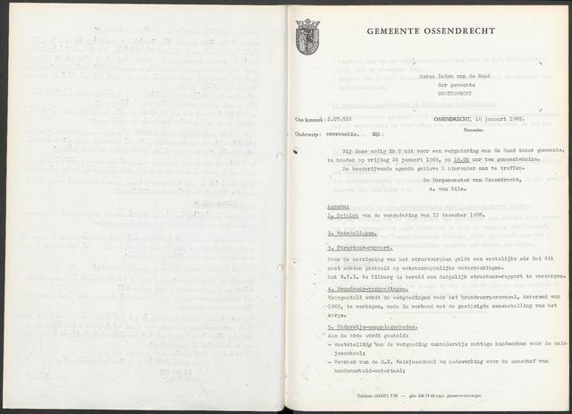 Ossendrecht: Notulen gemeenteraad, 1920-1996 1969
