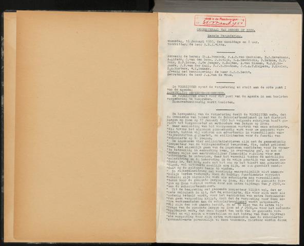 Bergen op Zoom: Notulen gemeenteraad, 1926-1996 1950-01-01