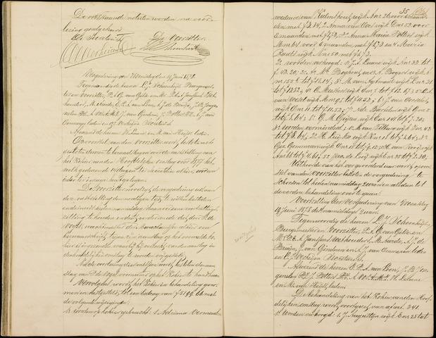 Roosendaal: Notulen gemeenteraad (besloten), 1851-1916 1878
