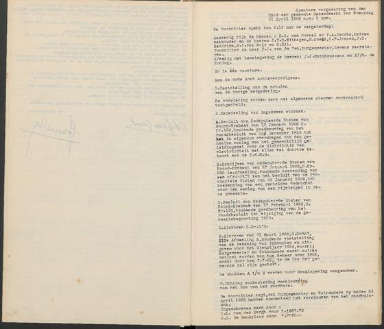 Ossendrecht: Notulen gemeenteraad, 1920-1996 1926
