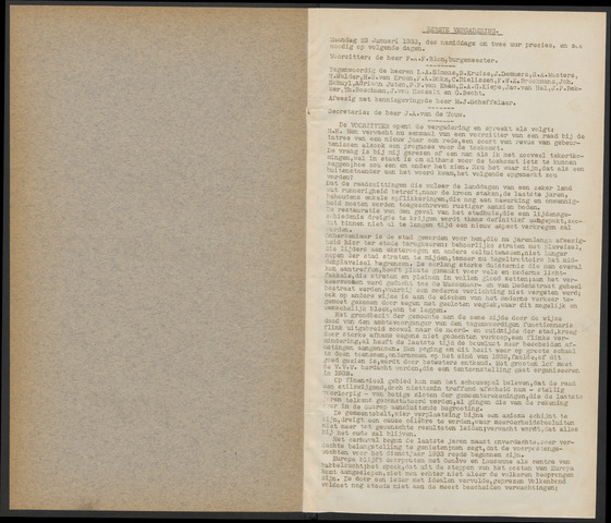 Bergen op Zoom: Notulen gemeenteraad, 1926-1996 1933-01-01