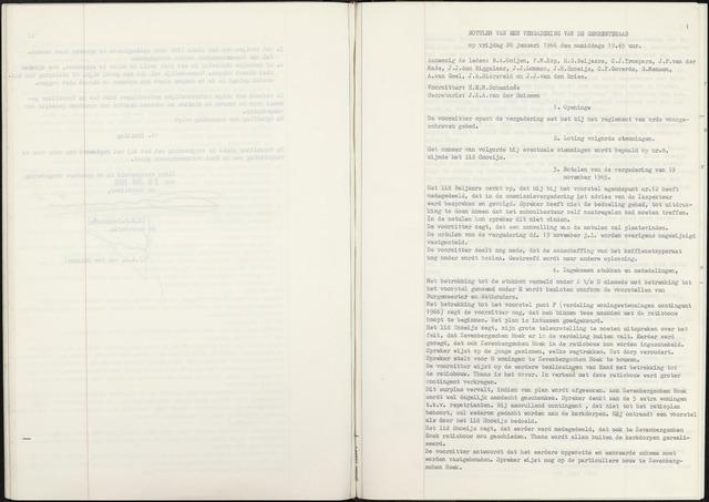 Zevenbergen: Notulen gemeenteraad, 1930-1996 1966-01-01