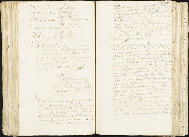 Roosendaal: Registers van resoluties, 1671-1673, 1675, 1677-1795 1755