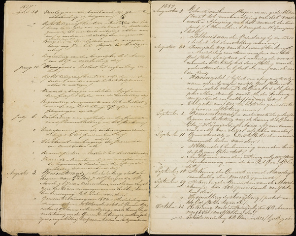 Roosendaal: Inhoudsopgaven notulen, 1849-1903 1857