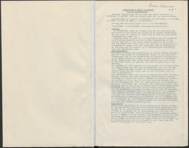 Nieuw-Vossemeer: Notulen gemeenteraad, 1957-1996 1963-01-01