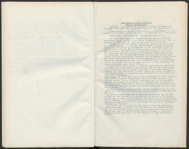 Nieuw-Vossemeer: Notulen gemeenteraad, 1957-1996 1962-01-01
