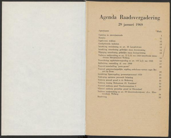 Steenbergen: Notulen gemeenteraad, 1920-1996 1969-01-01