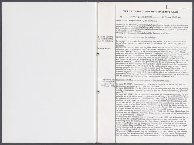 Rucphen: Notulen gemeenteraad, dec. 1949-1998 1983-01-01