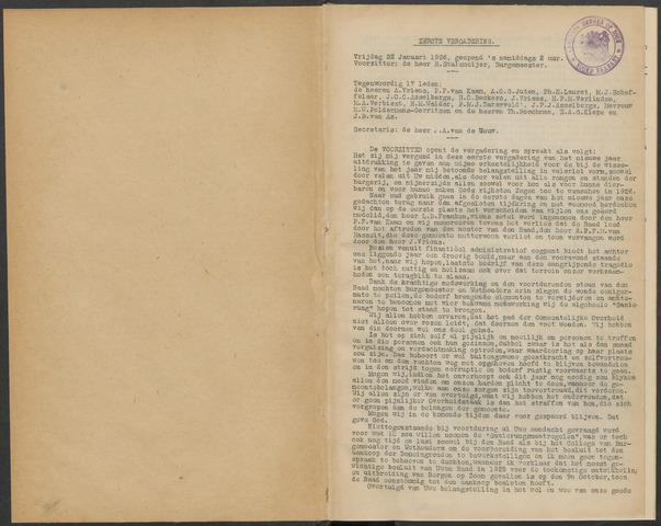 Bergen op Zoom: Notulen gemeenteraad, 1926-1996 1926-01-01