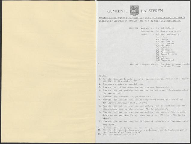 Halsteren: Notulen gemeenteraad, 1960-1996 1976