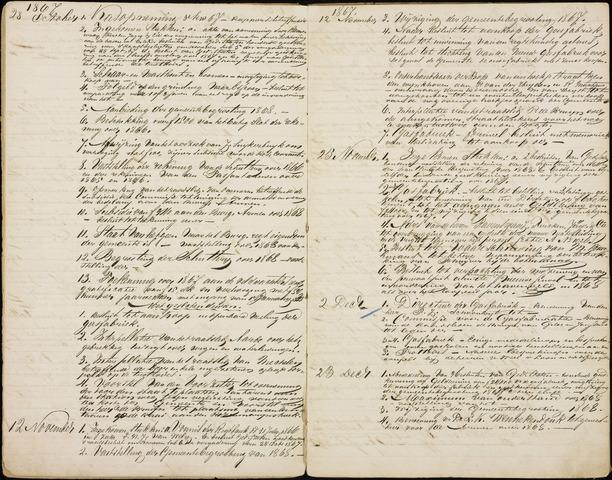 Roosendaal: Inhoudsopgaven notulen, 1849-1903 1868