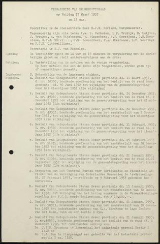Oud en Nieuw Gastel: Notulen gemeenteraad, 1938-1980 1953-01-01