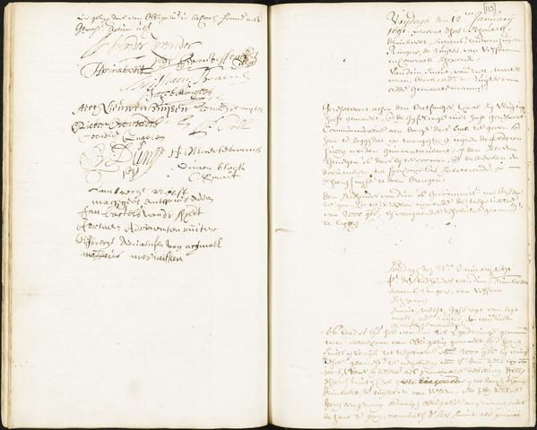 Roosendaal: Registers van resoluties, 1671-1673, 1675, 1677-1795 1691