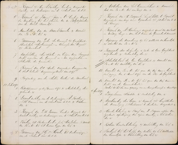 Roosendaal: Inhoudsopgaven notulen, 1849-1903 1898