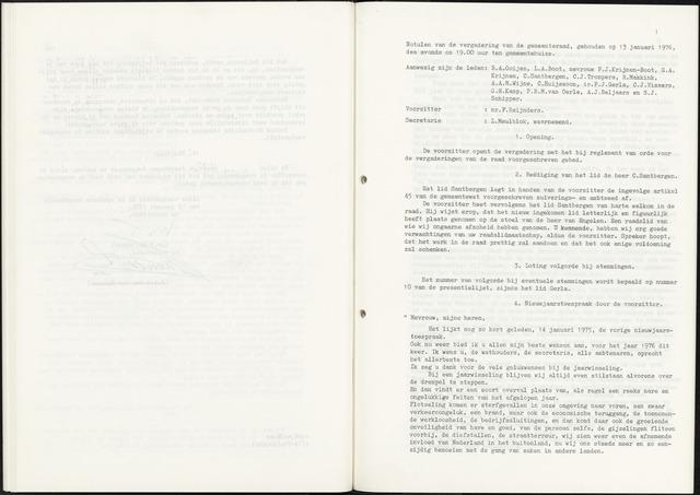Zevenbergen: Notulen gemeenteraad, 1930-1996 1976-01-01