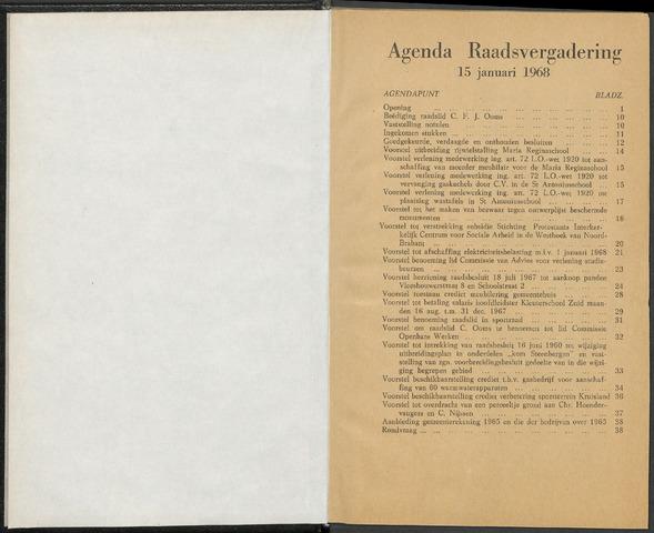 Steenbergen: Notulen gemeenteraad, 1920-1996 1968-01-01