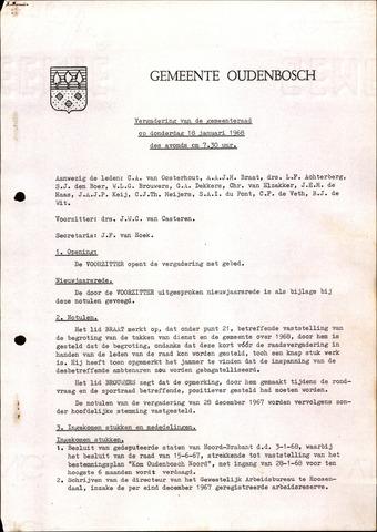 Oudenbosch: Notulen gemeenteraad, 1939-1994 1968-01-01