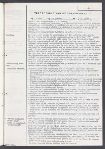 Rucphen: Notulen gemeenteraad, dec. 1949-1998 1977-01-01
