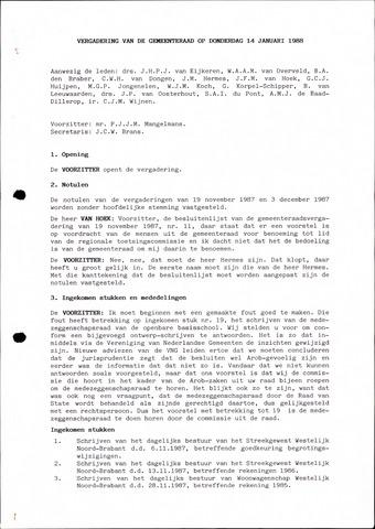 Oudenbosch: Notulen gemeenteraad, 1939-1994 1988-01-01