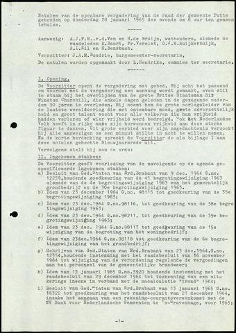 Putte: Notulen gemeenteraad, 1928-1996 1965-01-01