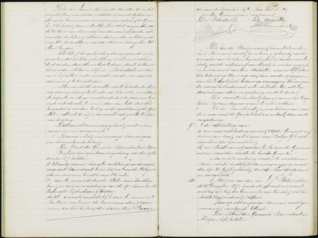 Roosendaal: Notulen gemeenteraad, 1851-1917 1878