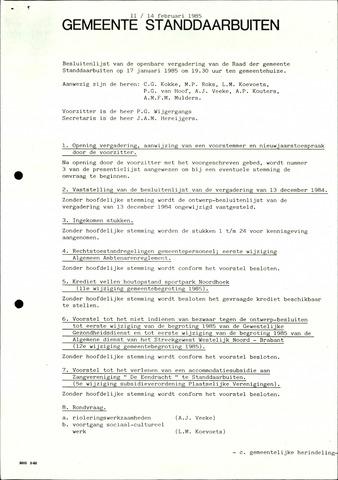 Standdaarbuiten: Notulen gemeenteraad, 1937-1996 1985-01-01