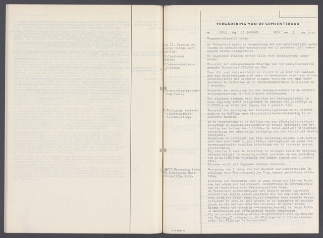 Rucphen: Notulen gemeenteraad, dec. 1949-1998 1961-01-01